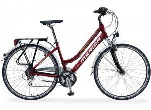 rent a bike - trekking / hybrid bike with rear racks and mud cover