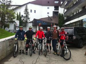 mountain biking around Brasov - great day without any rain